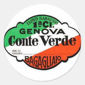 GenovaConteVerde Runde Aufkleber