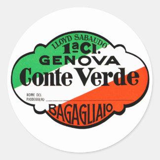 GenovaConteVerde Runder Aufkleber
