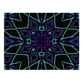 [GEO-BLU-1] Blaue und schwarze Arabeske Postkarte