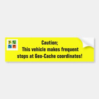 Geo-Pufferspeicher Koordinaten Autoaufkleber