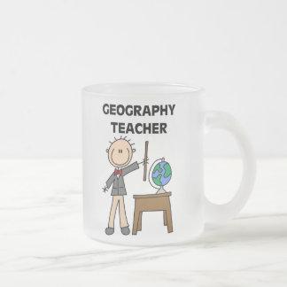 Geografie-Lehrer Matte Glastasse