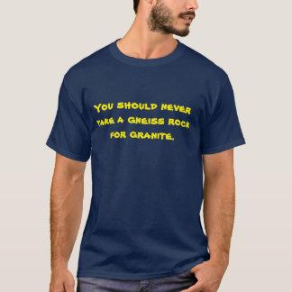 Geologie-Wortspiel-T - Shirt