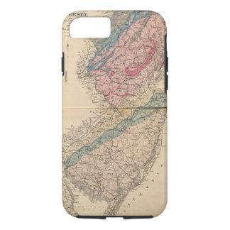 Geologische Karte von New-Jersey iPhone 7 Hülle
