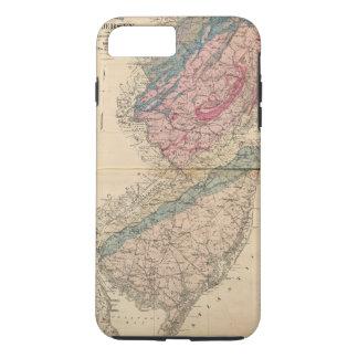 Geologische Karte von New-Jersey iPhone 8 Plus/7 Plus Hülle