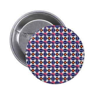 Geometrie-Muster-Illustrations-Retro Entwurf Runder Button 5,7 Cm
