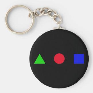 geometrisch - Dreieck, Kreis und Quadrat Schlüsselanhänger
