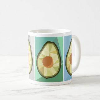 Geometrische Avocado-Tasse Tasse