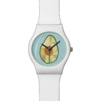 Geometrische Avocado-Uhr Armbanduhr