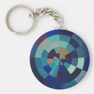 Geometrische Blau-Kreise, Bogen und Dreiecke der Schlüsselanhänger
