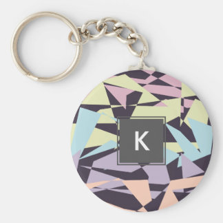 geometrische Dreiecke des eleganten Standard Runder Schlüsselanhänger