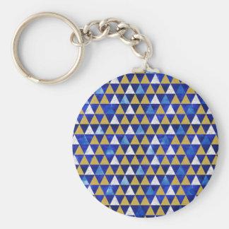 Geometrische Dreiecke Keychain, modernes Schlüsselanhänger
