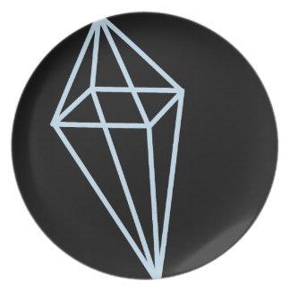 Geometrische Form-Platte (hellblau) Teller