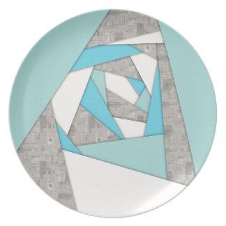 Geometrische Formen abstrakt Teller
