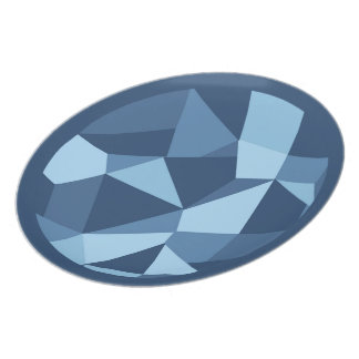 Geometrische Formen des verrückten Patchworks Melaminteller