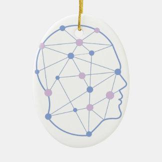 Geometrische Formen innerhalb des menschlicher Keramik Ornament