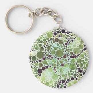 Geometrische grüne Kreise und Dreiecke der Schlüsselanhänger