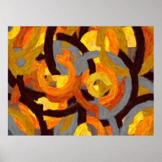 Geometrische Malerei in den Kreisen - AB-0009G Poster