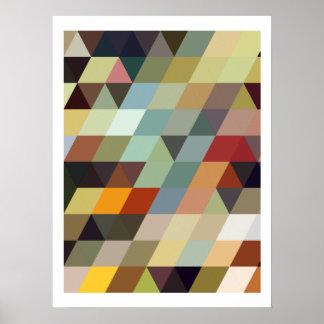 Geometrische Mehrfarbendreiecke der Muster-| Poster
