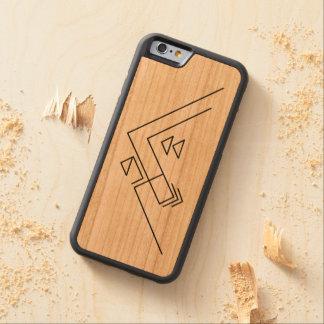Geometrische moderne | Gewohnheit des Berg| Bumper iPhone 6 Hülle Kirsche
