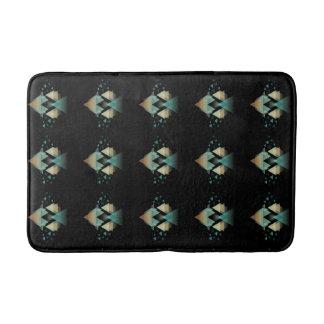Geometrische Pastellformen auf Schwarzem Badematte