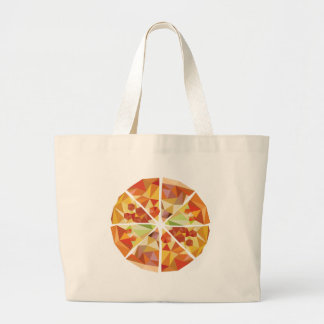 Geometrische Pizza Jumbo Stoffbeutel