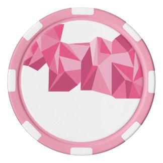 Geometrische Poker-Chips Poker Chips
