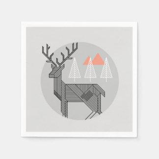 Geometrische Ren-WeihnachtsParty-Serviette Papierserviette