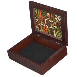 Geometrische Retro 50er Mitte- des Erinnerungsbox