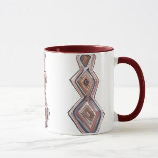 Geometrische Tasse der Watercolor-Raute