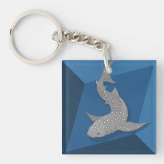 Geometrische Walhai-vektorkunst Keychain Schlüsselanhänger