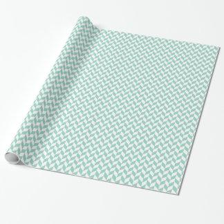 Geometrische Zickzack Minze und weg von weißem Geschenkpapier