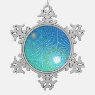 Geometrische Zusammenfassung Schneeflocken Zinn-Ornament
