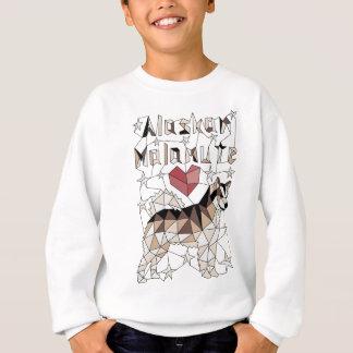 Geometrischer alaskischer Malamute Sweatshirt