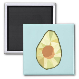 Geometrischer Avocado-Magnet [BLAU] Quadratischer Magnet