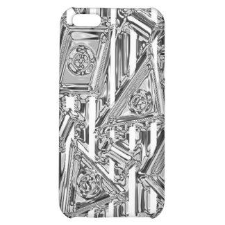 Geometrischer Chrom Iphone Fall iPhone 5C Hülle