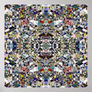 Geometrisches Dreieck-Gitter-Farbplakat Poster