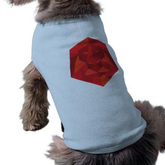 Geometrisches Löwe-Hündchen-Shirt Ärmelfreies Hunde-Shirt