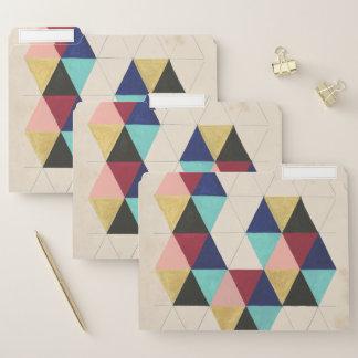 Geometrisches Muster-Spiel III Papiermappe
