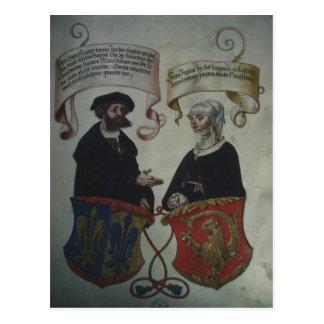 Georg Fugger seine Ehefrau Regina Imhoff, 'Geheim Postkarte