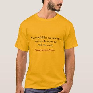 George Bernard Shaw auf Reaktion T-Shirt