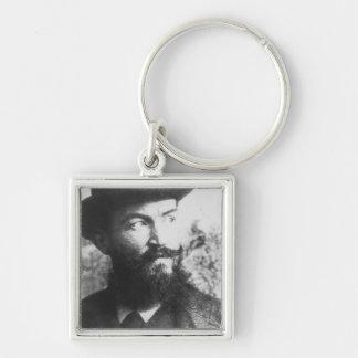 George Bernard Shaw Silberfarbener Quadratischer Schlüsselanhänger