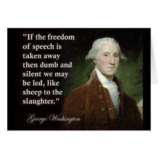 George Washington-Redefreiheit Zitat Karte