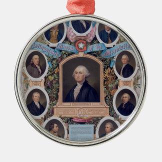 George Washington und die Maurer der Revolution Rundes Silberfarbenes Ornament