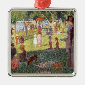 Georges Seurat-Skizze für Sonntag Mittag, großes Silbernes Ornament