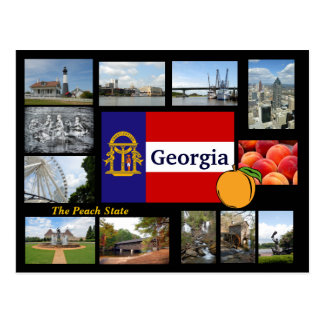 Georgia die Pfirsich-Staats-Postkarte Postkarte