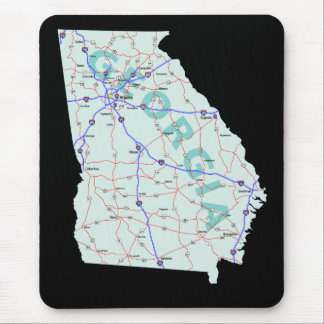 Georgia-Karte Mousepad