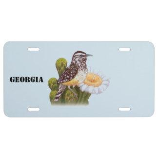 Georgia-Staats-Vogel US Nummernschild