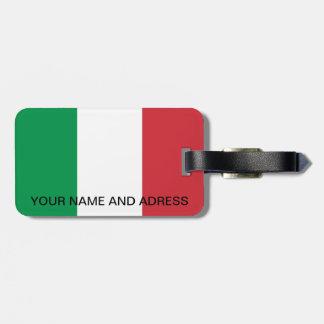 Gepäckanhänger mit Flagge von Italien