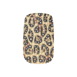 Gepard-Druck Bling Minx-Nägel Minx Nagelkunst