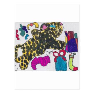 Gepard-Weihnachten Postkarte